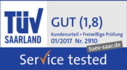 TÜV Gut (Note 1,8)